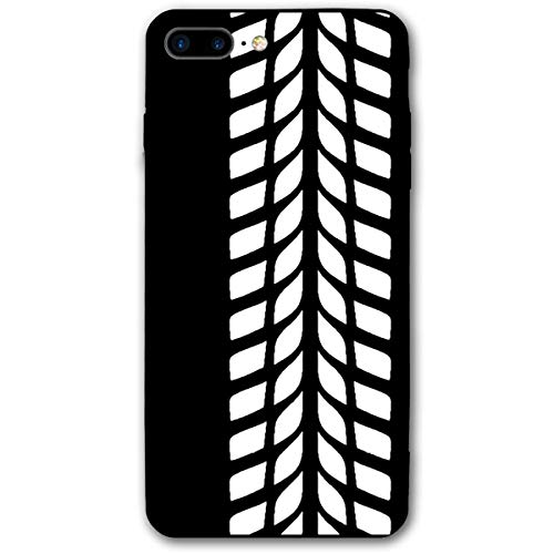 Tyre Print Road Car Race iPhone 7plus 8plus 7/8 Plus Phone Case Cover Theme Decorative Mobile Accessories Ultra Thin Lightweight Shell Pattern Printed Ornament Decorations
