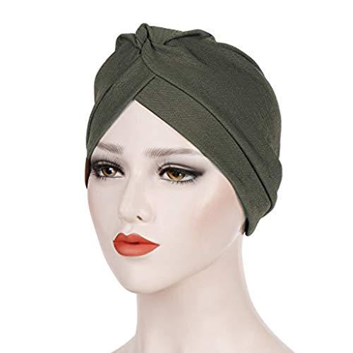 Jianekolaa Elastic Sleep Caps Breathable Night Scarf Head Wrap Chemo Headwear Cancer Hat Coffee