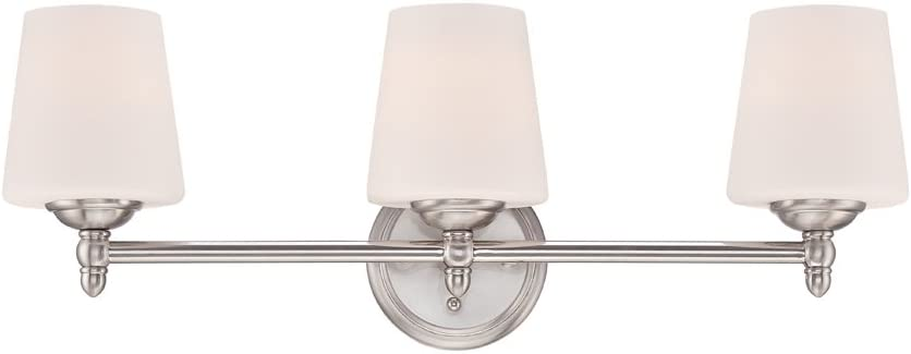 Designers Fountain 15006-3B-35 Darcy 3 Light Bath Bar, Brushed Nickel