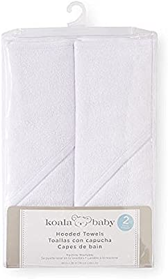 Koala Baby Hooded Towel, 2 Pack White