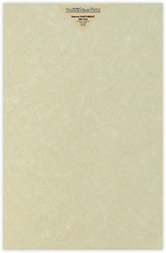 Parchment Bond Paper - 100 Natural Parchment 60# Text (=24# Bond) Paper Sheets - 11