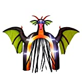 YIHONG 10 Ft Halloween Inflatables Dragon Archway Decorations with Black Streamers - Blow up Party Decor for Indoor Outdoor Yard with LED Lights