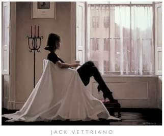 In Thoughts of You by Jack Vettriano - High Quality Print (Print Size: 80 x 60 cms / Image Size: 63 x 48 cms) by Zig Zag Art
