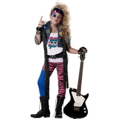 California Costumes 80's Glam Rocker Child Costume, Large ()
