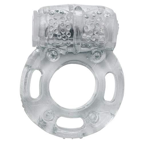 Anel Vibrador Peniano Borboleta Transparente
