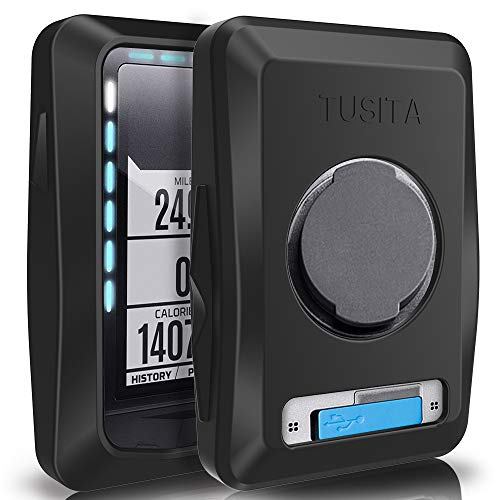 TUSITA Case for Wahoo Elemnt (Not for Wahoo Elemnt Bolt) - Silicone Protective Cover - GPS Bike Computer Accessories (Black)