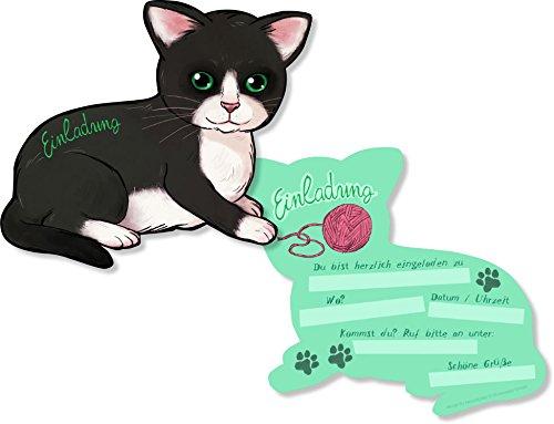 ... Für Einen Kindergeburtstag Oder Party Von DH Konzept // Kinder  Geburtstag Party Einladung Einladungen Karten Mottoparty Cat Katze:  Amazon.de: Spielzeug