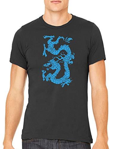 Austin Ink Apparel Blue Dragon Tattoo Unisex Premium Crewneck Printed T-Shirt Tee