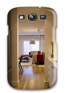 Flexible Tpu Back Case Cover For Galaxy S3 - Modern Galley Kitchen With Glass Backsplash With Changeable Led Lighting