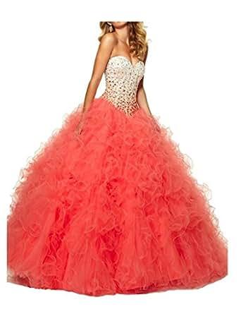 Amazon.com: Dqfs 2015 Ball gown Sweetheart Beaded Ruffles