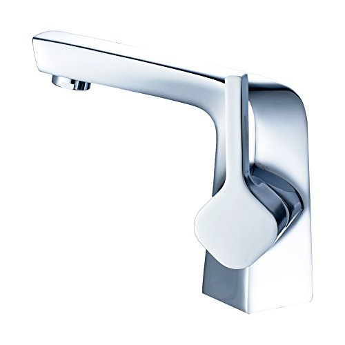 MissMin contemporary bahthroom sink faucets,Modern Chrome vanity sink faucets,one hole vessel sink faucts,single handle/lever lavatory faucet,commerical basin faucets taps,silver (Silver Single Handle)