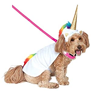 Rubies Costume Company Unicorn Cape with Hood and Light-Up Collar Pet Costume