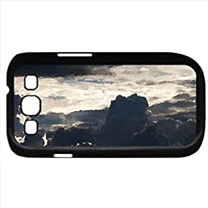 Clouds (Sky Series) Watercolor style - Case Cover For Samsung Galaxy S3 i9300 (Black)