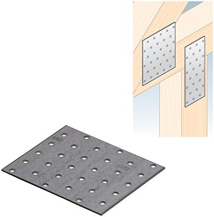 12 x Möbelverbinder Holzverbinder Nagelplatten Bettverbinder Lochblech Schrauben