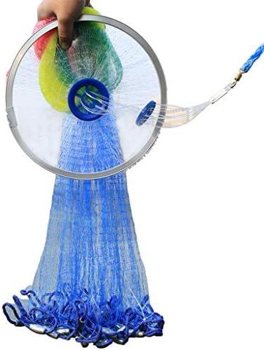 BINZHI 釣りネットは魚のネット長さ1.2メートル、1.5メートル、1.8メートル、2.1メートルネッツフリスビータイプ小型グリッドモノフィラメントラインハンド投げる、釣りツールをキャスティング強化します (Size : 1.8 m)