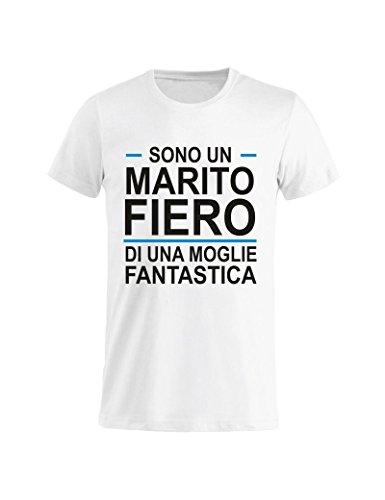 Idea Del Gr5 Festa Compleanno Maglietta Uomo Marito Tuttoinunclick Fiero Onomastico Regalo Grigia T Papà L shirt Bianca RzqTURgFcA