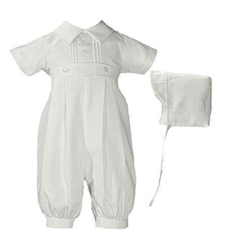 Gabardine Coverall (Baby Boys White Gabardine Coverall with Matching Hat 12 Months)