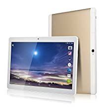 New 10 inch Tablet PC 1280X800 IPS Octa Core RAM 2GB ROM 32GB 8.0MP Dual sim Phone Call Android 7.0 (gold)