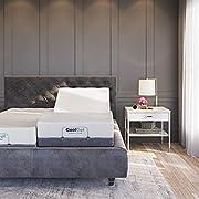 Classic Brands Adjustable Comfort  Upholstered Adjustable Bed Base with Massage, Wireless Remote, Three Leg Heights, and USB Ports-Ergonomic, King (Split), Black