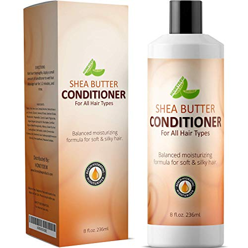 - Natural Shea Butter Conditioner (Fragrance Free) with Pure African Shea Butter, Silk Peptide, and Pomegranate Blend - Repairs Broken, Dry and Thinning Hair - Contains No Silicones, Sulfates, or Harmful Chemicals - Made in USA By Honeydew Products, 8 fl.oz. 236ml