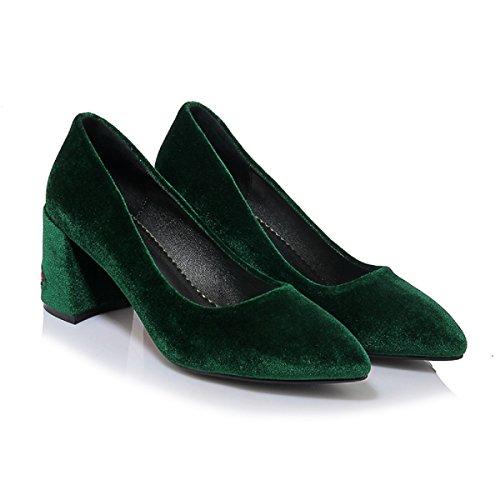 Verde Rongzhi Slip De Mujer On Terciopelo qXO1wxzX