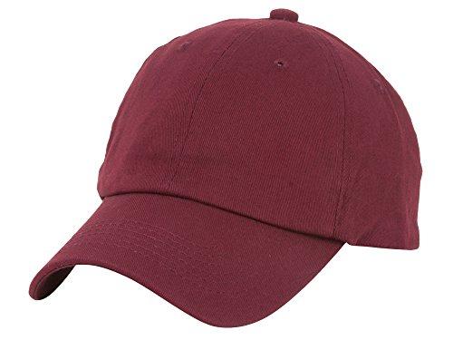 (TOP HEADWEAR Unstructured Adjustable Dad Hat w/Buckle - Maroon)