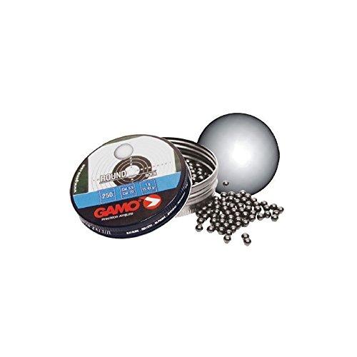 Gamo Balines Bola Lata Metal 250 Unidades para Calibre 5.5 mm, 1 gramo de Peso, 6320325