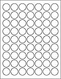 (12 SHEETS) 756 1 INCH ROUND CIRCLE WHITE STICKERS FOR INKJET and LASER PRINTERS. Size: 8-1/2″X11″ STANDARD SHEETS LABELS, Office Central