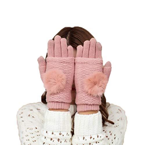 交流するポーク薄いZMAYASTAR 手袋 レディース ニット 指無し/フルフィンガー 可愛い おしゃれ タッチスクリーン対応 防寒 極暖 MU-25