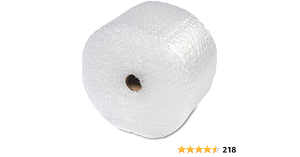 """1//2/"""" Large Bubble Cushioning Wrap Padding Roll 12/"""" Wide Perforated 12/"""" Chose FT"""