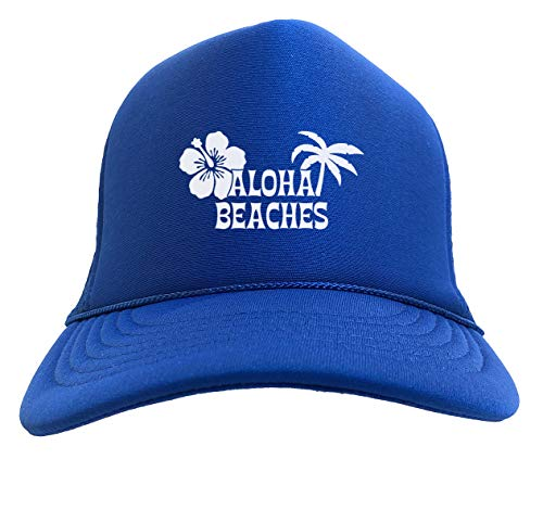 (Aloha Beaches - Tropical Resort Solid Trucker Hat (Royal)
