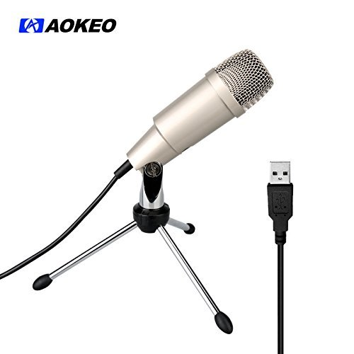 aokeo ak 2 usb microphone plug play home studio usb gaming laptop f c os. Black Bedroom Furniture Sets. Home Design Ideas