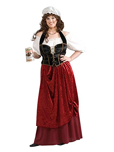 Forum Novelties Women's Tavern Wench Plus Size Costume, Multicolor, Plus -
