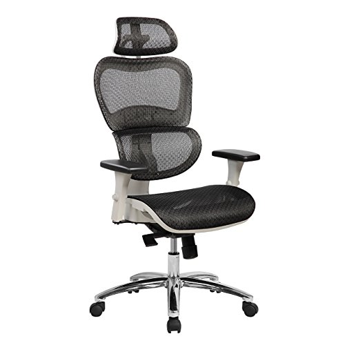 (Techni Mobili Deluxe High Back Mesh Office Executive Chair with Neck Support. Color:)