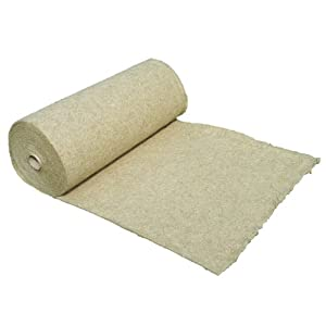 Hemp mats for rodents from 100% of hemp, 0,5x 10 m, about 5 mm thick, (5,79/m²) rodent's mat suitably as a cage vegetative soil cover, e.g., for rabbit, guinea pig, hamster, degus, rats and other rodents.