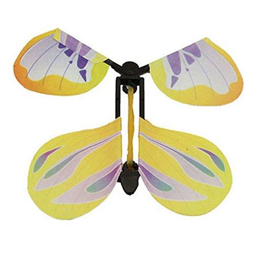 Merssavo 10 Pcs Juguete Magic Butterfly Fly Papel y Regalo de Plástico para Niños de Color Aleatorio