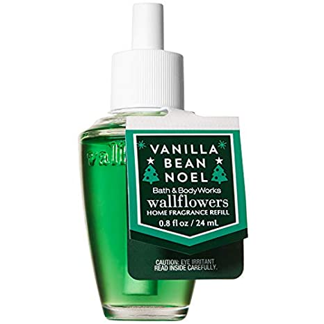 Bath And Body Works Vanilla Bean Noel Wallflowers Home Fragrance Refill 0.8 Fluid Ounce (2018 Holiday Edition) by Bath & Body Works