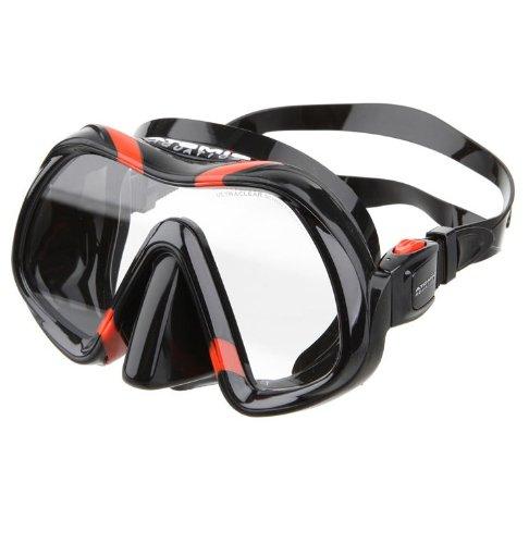 Atomic Aquatics Venom Mask, Black Skirt - Black/Red, no ARC