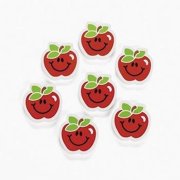 Apple Erasers - Apple Erasers (2 dozen) - Bulk [Toy]