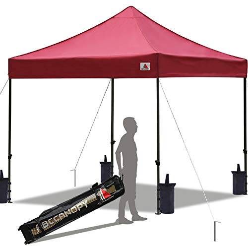 (ABCCANOPY Pop up Canopy Tent Commercial Instant Shelter with Wheeled Carry Bag, Bonus 4 Canopy Sand Bags, 10x10 FT)