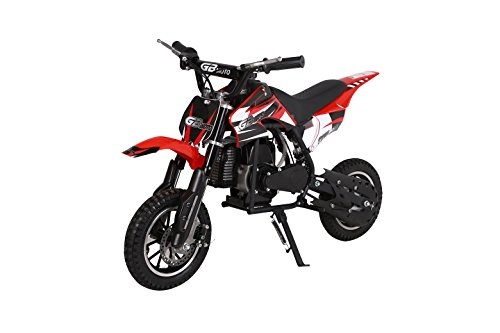 V-Fire 2-Stroke 49CC Kids Gas Dirt Bike, Red (EPA Registered, NO CA sales) - Power Grip Performance Clutch
