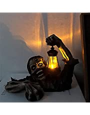 Terror Halloween Decor, Zombie Portable Lantern Halloween Props, Terror Zombie Statue Resin, Personalized Halloween Decoration, Led Lights Handmade Crafts Ornament for Home Garden