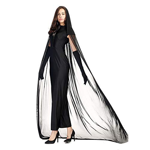 Costour Women's Lady Reaper Scary Ghost Demon Costume ()