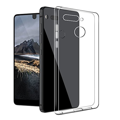 Essential PH-1 Phone Case, Foluu Premium Ultra Slim Clear Tranparent TPU Shockproof DirtProof Case Cover Shell With Screen Protector Gift for Essential Phone PH-1 (1 Pack) (1 Pack Case)