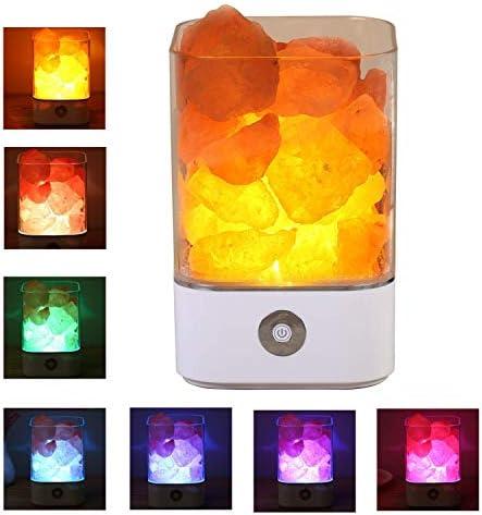 Natural Pink USB Himalayan Salt Lamp Rock Salt Multi Colours Night Light Lamp