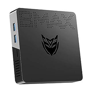 Mini PC Intel Celeron N3060(up to 2.48GHz) Windows 10 Mini Computer, 4GB DDR3/64GB eMMC, HDMI/VGA Port, Support M.2_2280 SATA SSD, 4K HD, Gigabit Ethernet, 2.4G/5.8G Dual WiFi, BT4.2