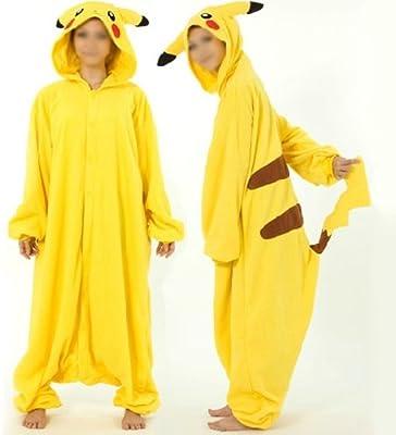 Disfraz de Pikachu Vellón Pijama animales ropa de noche vestido de ...
