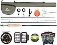 Maxcatch Extreme Fly Fishing Combo Kit 5/6/7/8 Weight, Starter Fly Rod and Reel Outfit, with a Protective Trav