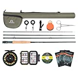 Maxcatch Extreme Fly Fishing Combo Kit 5/6/7/8 Weight, Starter Fly Rod and Reel Outfit, with a Protective Travel Case