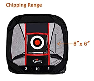 Galileo Chipping Net Golf Practice Driving Training Aids Target Square Hitting Aid